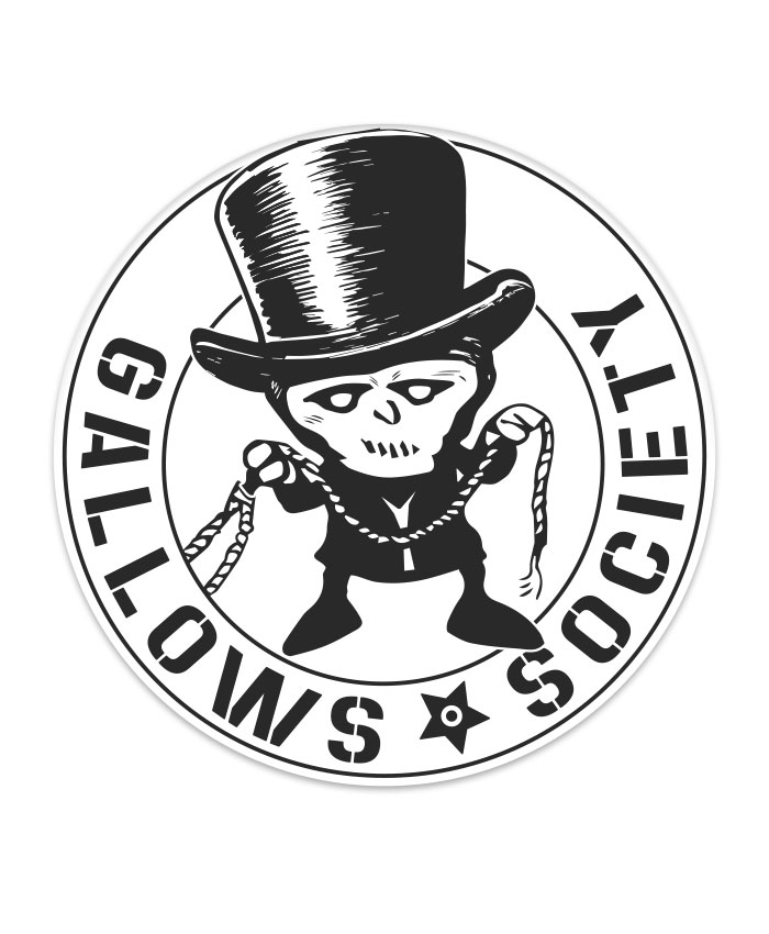 Gallows Society Punkrock Aufkleber rund 9,5 cm